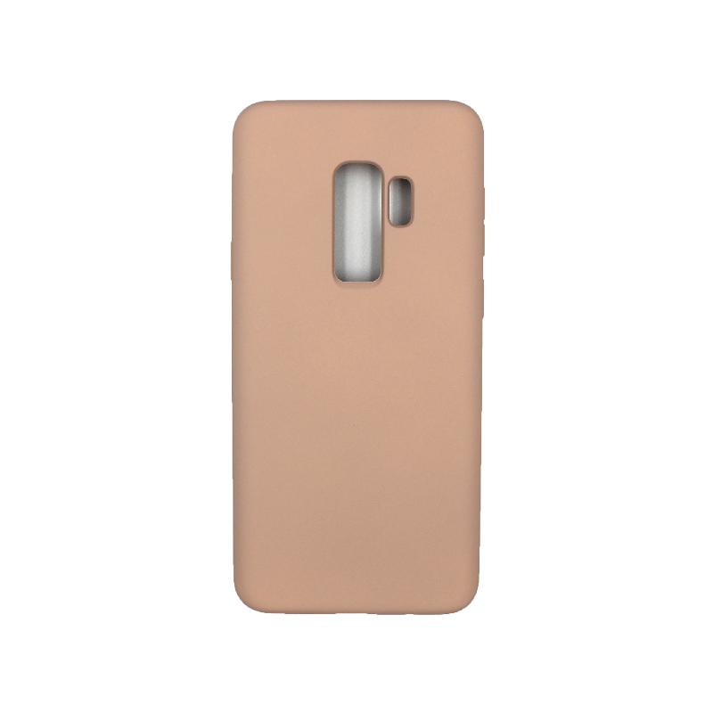 Θήκη Samsung Galaxy S9 Plus Silky and Soft Touch Silicone μπεζ 1
