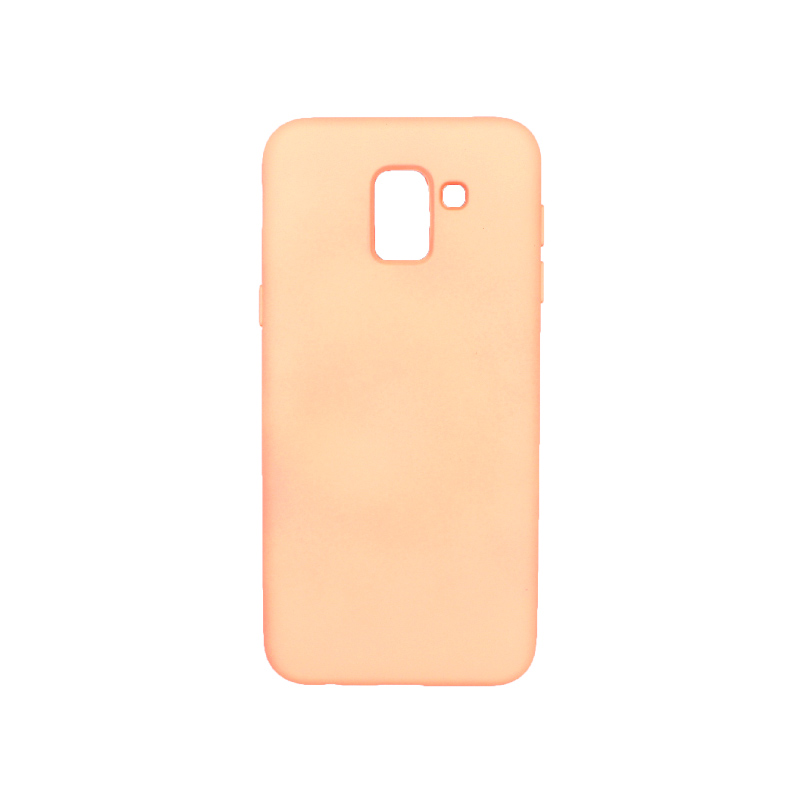 Θήκη Samsung Galaxy J6 Silky and Soft Touch Silicone πορτοκαλί 1