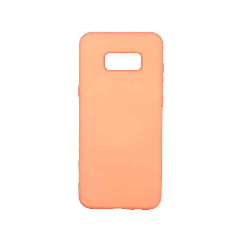 Θήκη Samsung Galaxy S8 Plus Silky and Soft Touch Silicone πορτοκαλί 1
