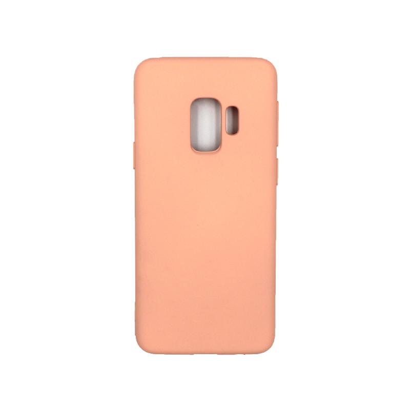 Θήκη Samsung Galaxy S9 Silky and Soft Touch Silicone πορτοκαλί 1