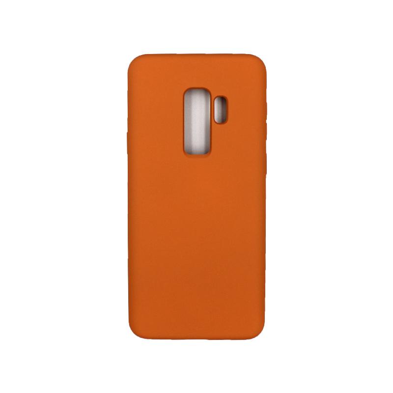 Θήκη Samsung Galaxy S9 Plus Silky and Soft Touch Silicone πορτοκαλί 1