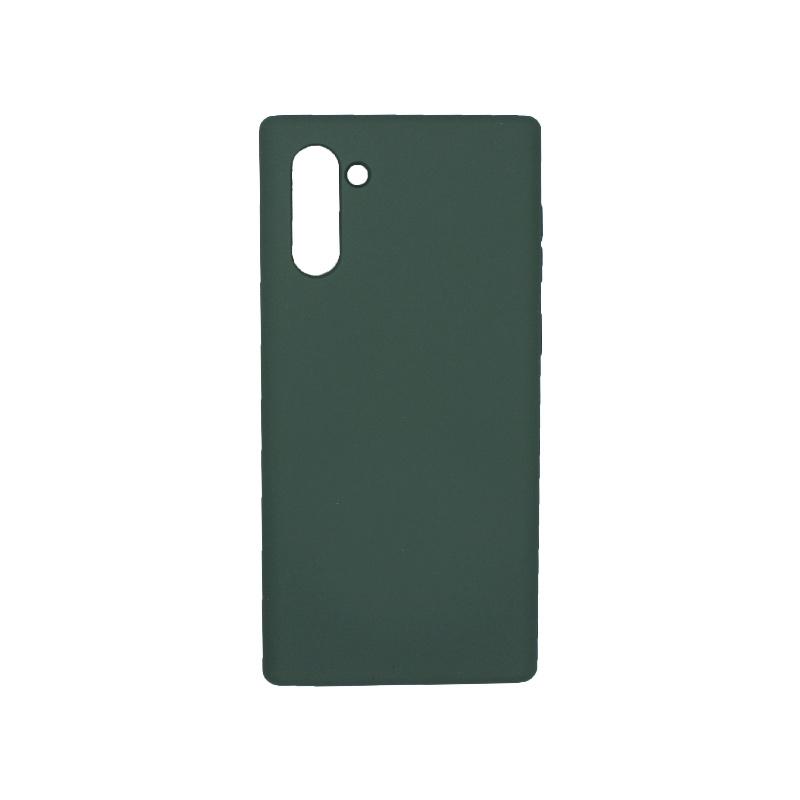 Θήκη Samsung Galaxy Note 10 Silky and Soft Touch Silicone πράσινο 1