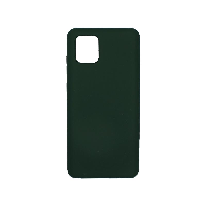 Θήκη Samsung Galaxy Note 10 Lite / A81 Silky and Soft Touch Silicone πράσινο 1