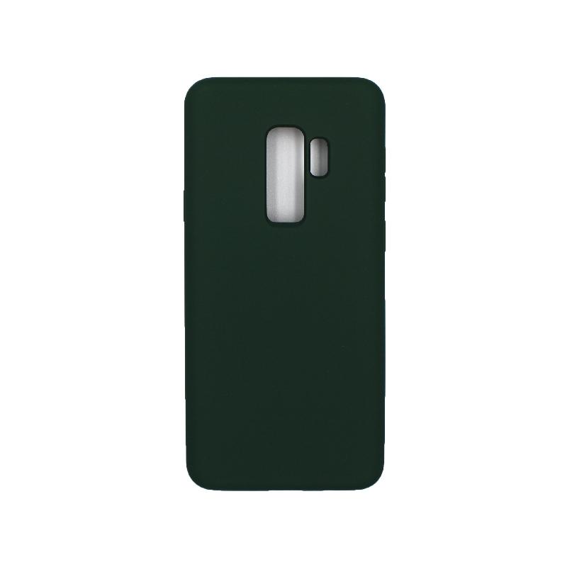Θήκη Samsung Galaxy S9 Plus Silky and Soft Touch Silicone πράσινο 1