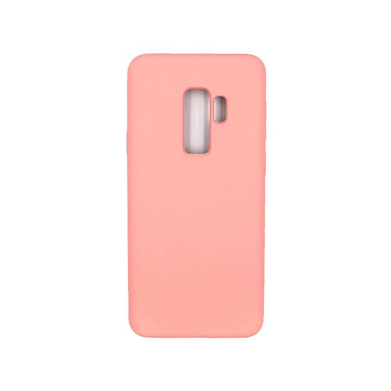 Θήκη Samsung Galaxy S9 Plus Silky and Soft Touch Silicone ροζ 1
