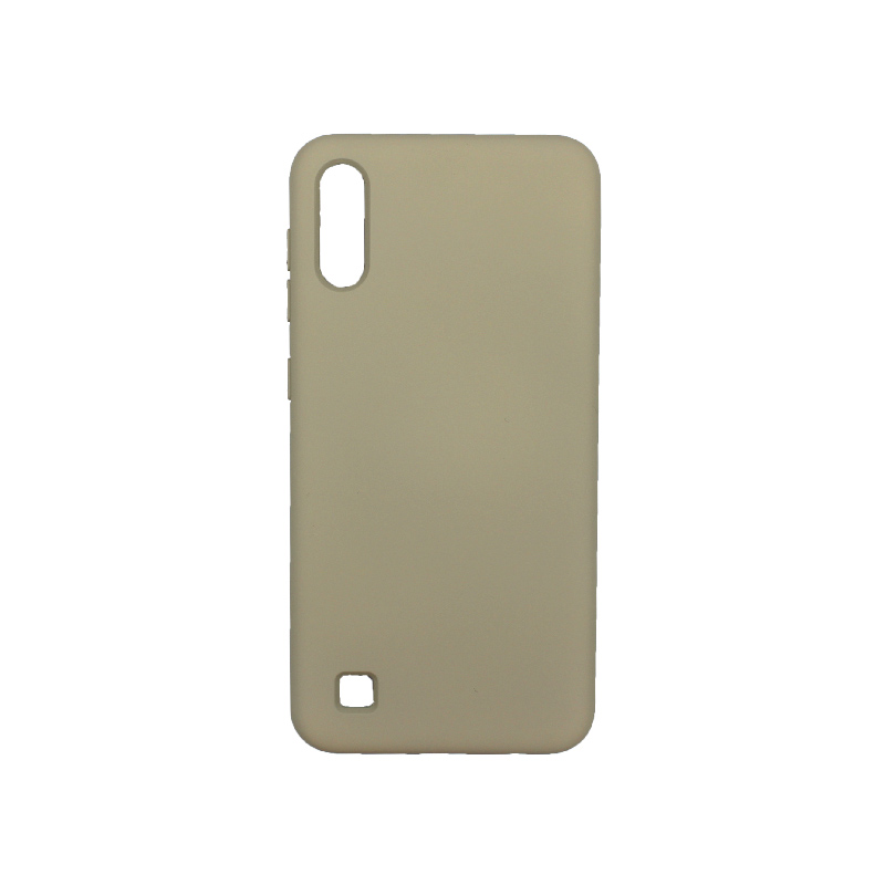 Θήκη Samsung Galaxy A10 / M10 Silky and Soft Touch Silicone λαδί 1