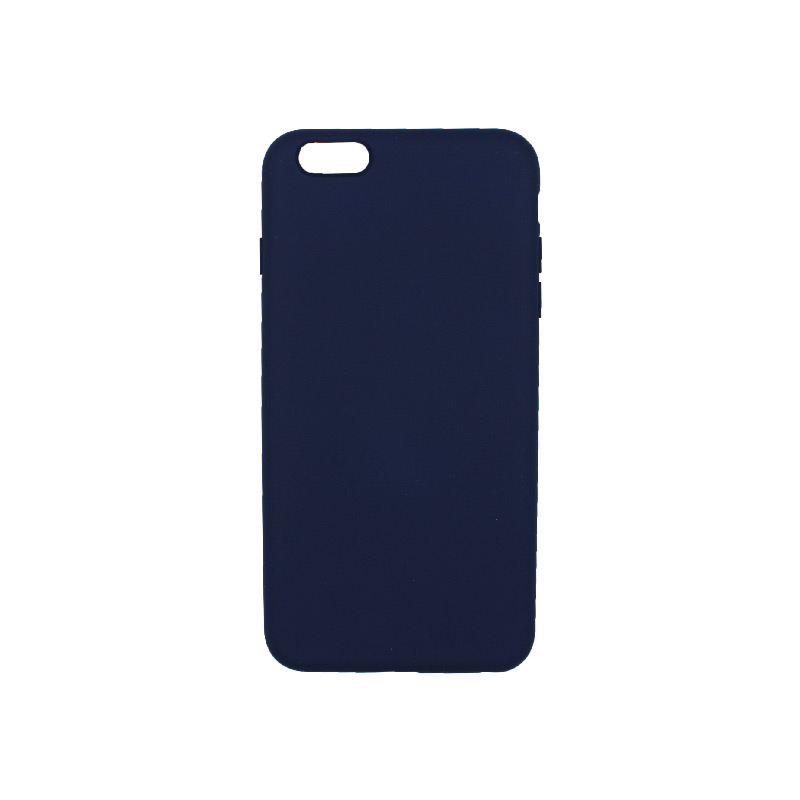 θήκη 6 plus silky touch and soft silicone σκουρο μπλε 1