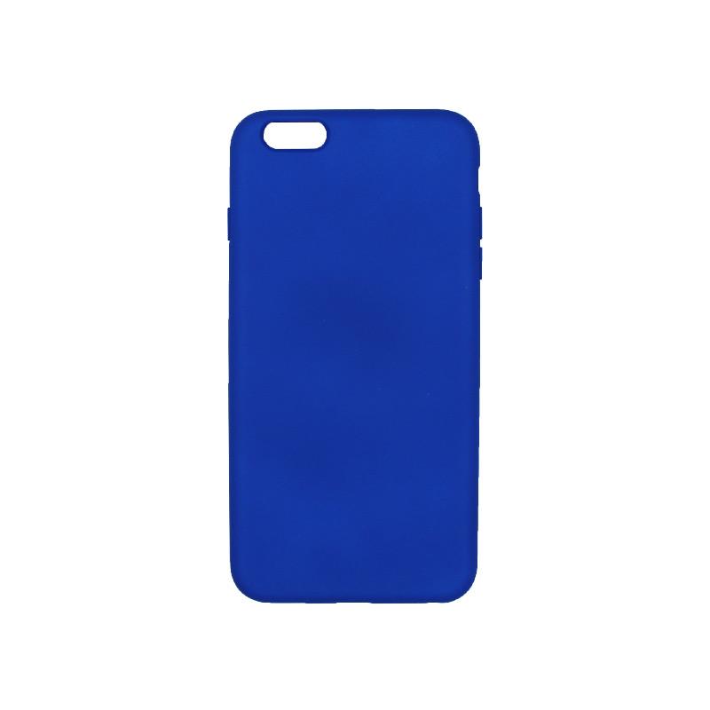 θήκη 6 plus silky touch and soft silicone μπλε ρουα 1