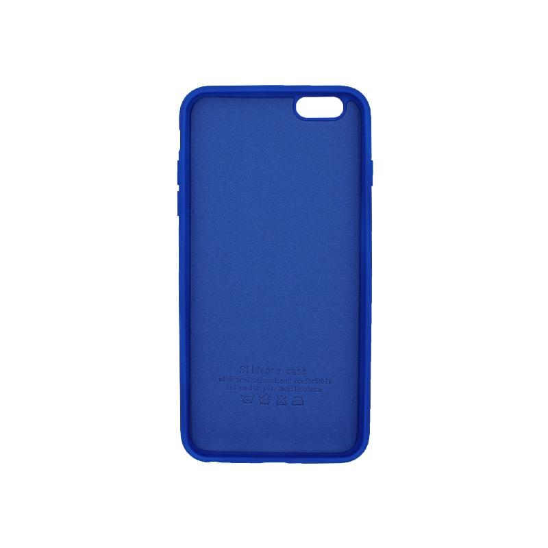 θήκη 6 plus silky touch and soft silicone μπλε ρουα 2