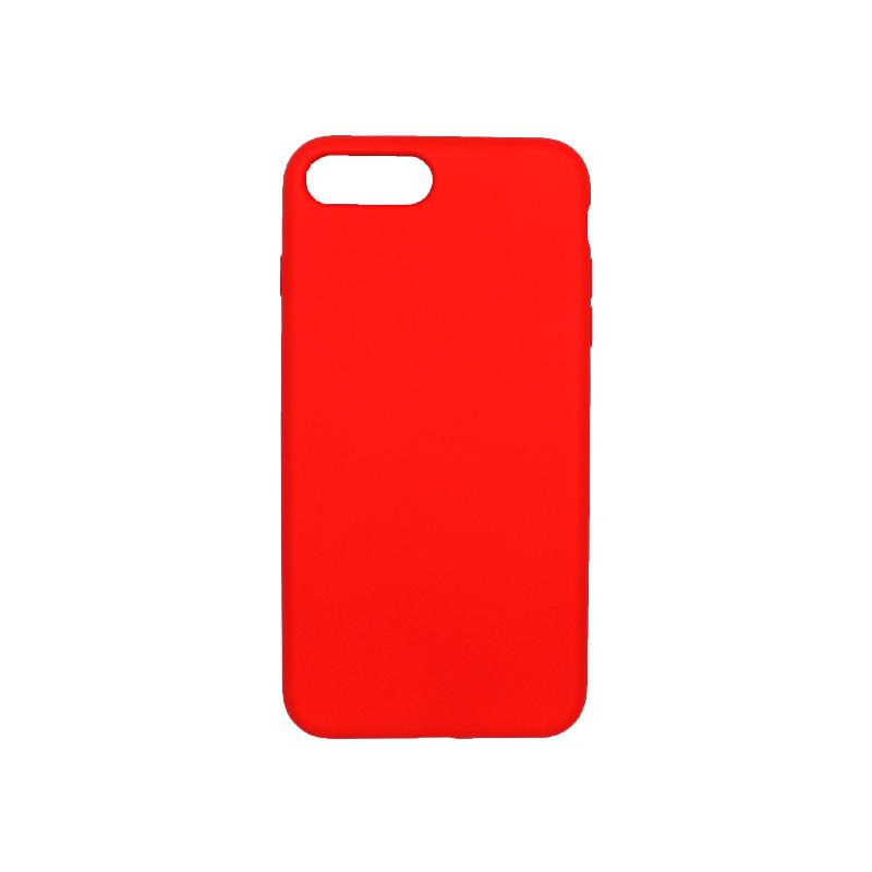 θήκη iPhone 7 Plus / 8 Plus silky and soft touch σιλικόνη κόκκινο πίσω