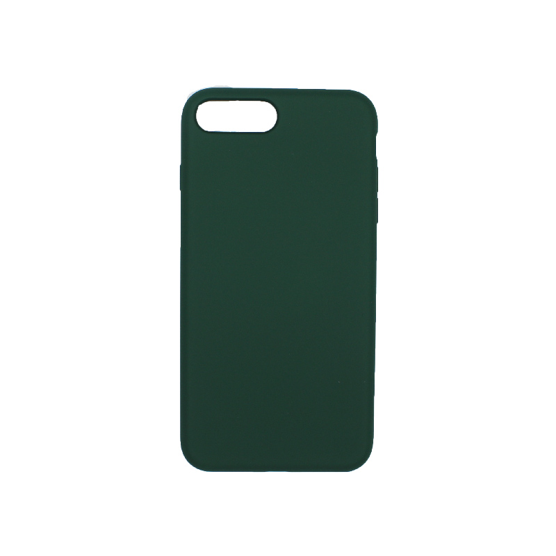 θήκη iPhone 7 Plus / 8 Plus silky and soft touch σιλικόνη πράσινο πίσω