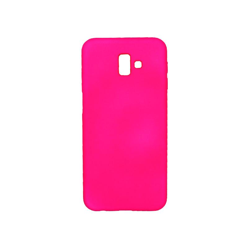 Θήκη Samsung Galaxy J6 Plus Silky and Soft Touch Silicone φούξια 1