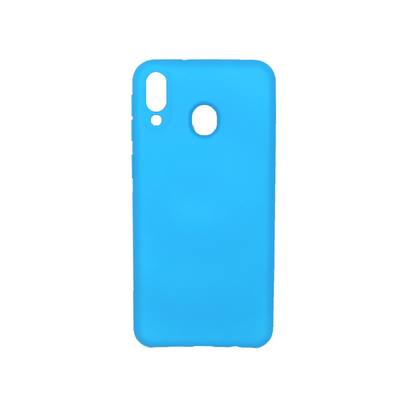Θήκη Samsung Galaxy M20 Silky and Soft Touch Silicone γαλάζιο 1
