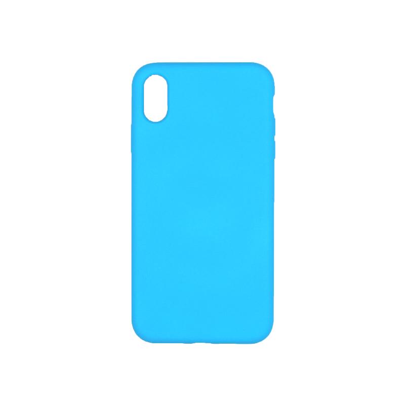 θήκη iPhone X / XS / XR / XS MAX silky and soft touch σιλικόνη γαλάζιο πίσω