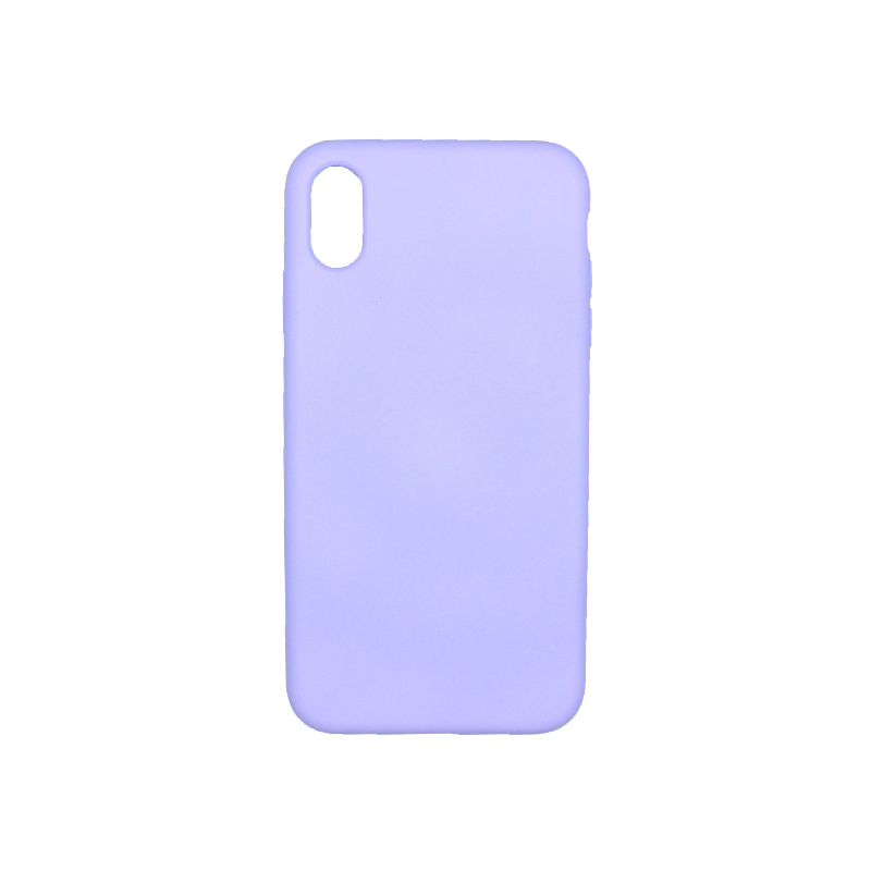 θήκη iPhone X / XS / XR / XS MAX silky and soft touch σιλικόνη μοβ πίσω