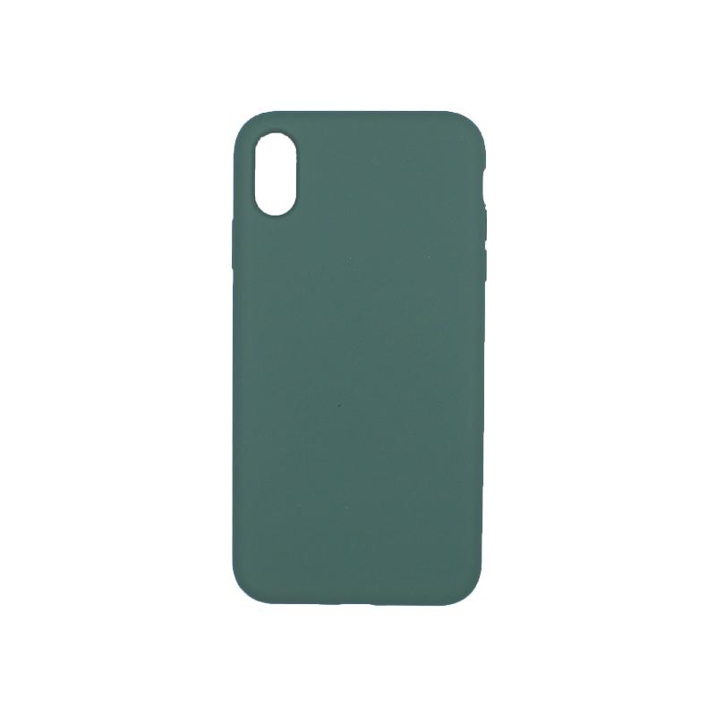 θήκη iPhone X / XS / XR / XS MAX silky and soft touch σιλικόνη πράσινο πίσω