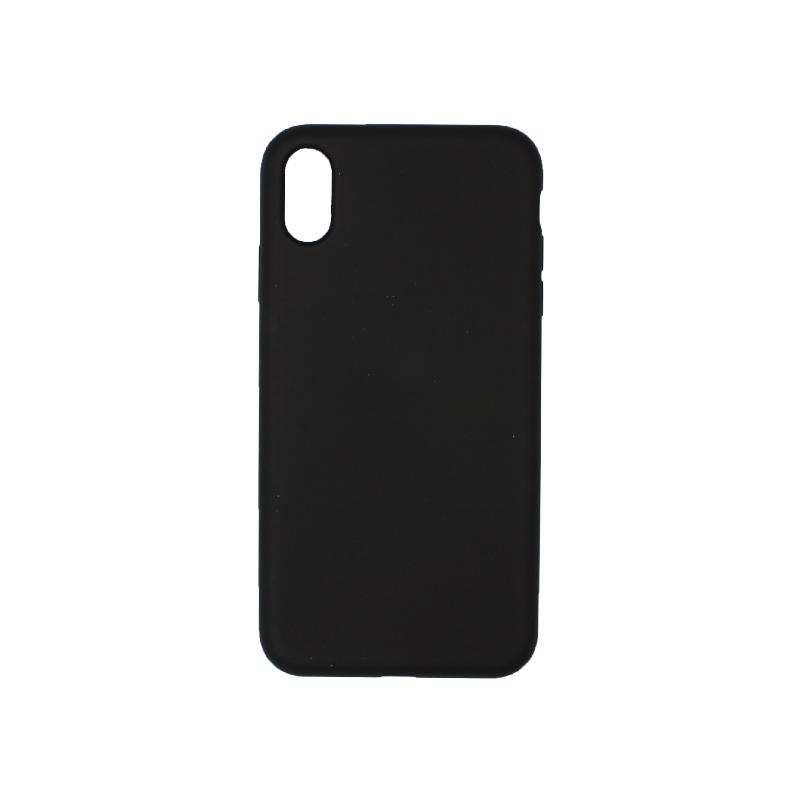 θήκη iPhone X / XS / XR / XS MAX silky and soft touch σιλικόνη μαύρο πίσω
