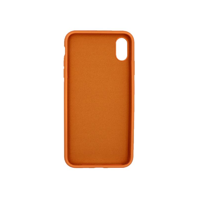 θήκη iPhone XS silky and soft touch σιλικόνη πορτοκαλί μπροστά