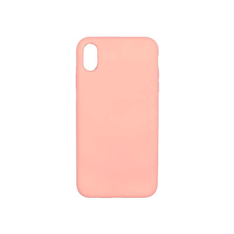 θήκη iPhone X / XS / XR / XS MAX silky and soft touch σιλικόνη ροζ πίσω