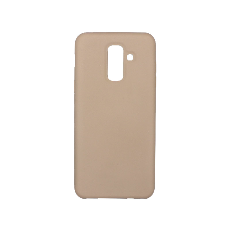 Θήκη Samsung Galaxy Α6 Plus / J8 2018 Silky and Soft Touch Silicone καφέ 1