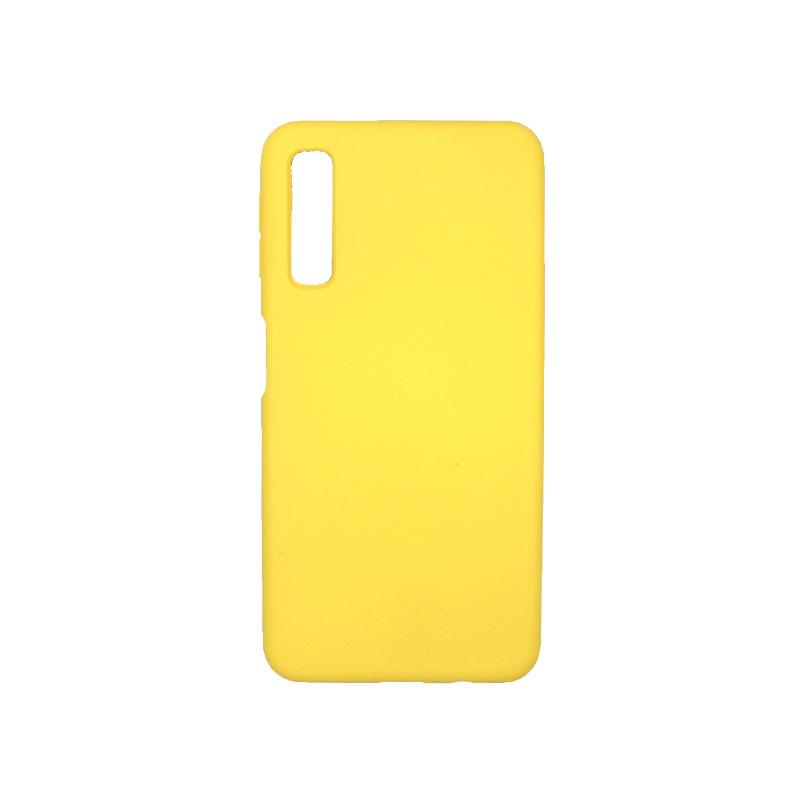 Θήκη Samsung Galaxy A7 2018 Silky and Soft Touch Silicone κίτρινο 1
