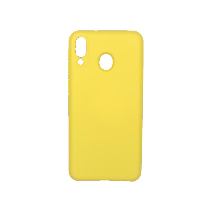 Θήκη Samsung Galaxy M20 Silky and Soft Touch Silicone κίτρινο 1