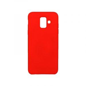 Θήκη Samsung Galaxy A6 Silky and Soft Touch Silicone κόκκινο 1