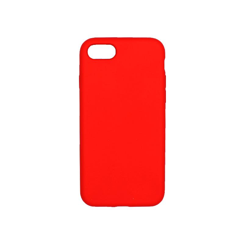 θήκη iPhone 7 / 8 silky and soft touch σιλικόνη κόκκινο πίσω