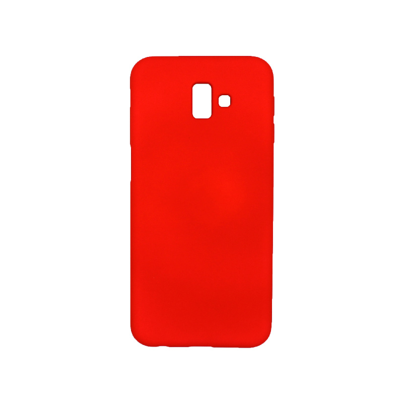 Θήκη Samsung Galaxy J6 Plus Silky and Soft Touch Silicone κόκκινο 1