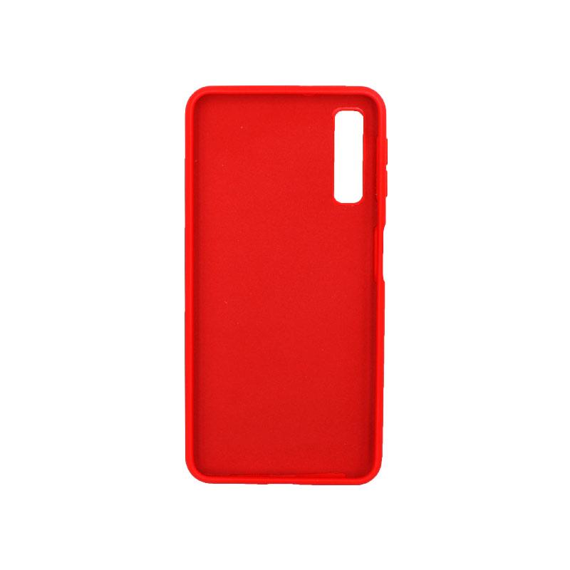 Θήκη Samsung Galaxy A7 2018 Silky and Soft Touch Silicone κόκκινο 2