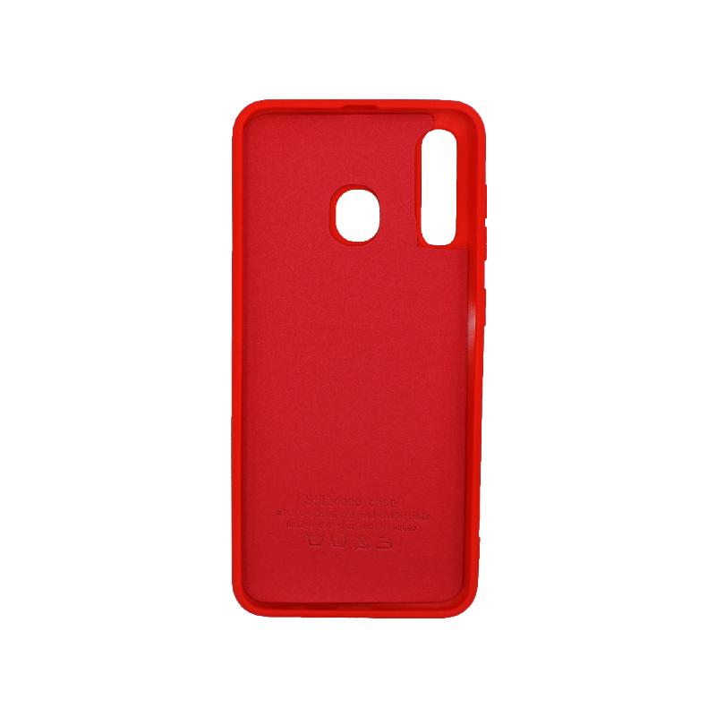 Θήκη Samsung Galaxy A20 / Α30 Silky and Soft Touch Silicone κόκκινο 2