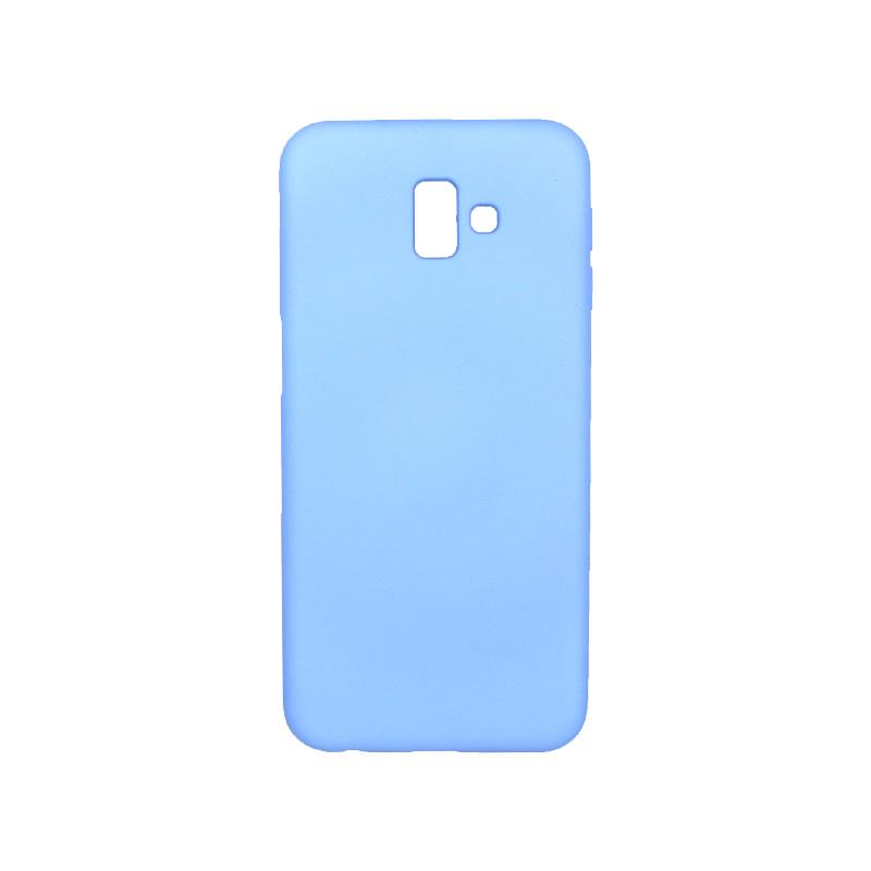 Θήκη Samsung Galaxy J6 Plus Silky and Soft Touch Silicone γαλάζιο 1