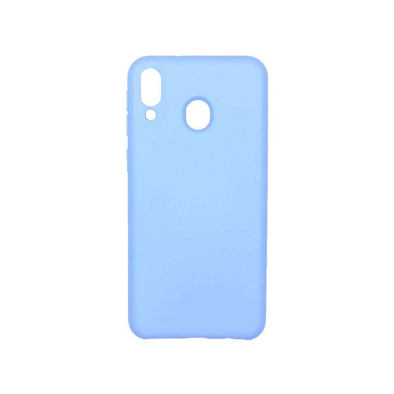 Θήκη Samsung Galaxy M20 Silky and Soft Touch Silicone λιλά 1
