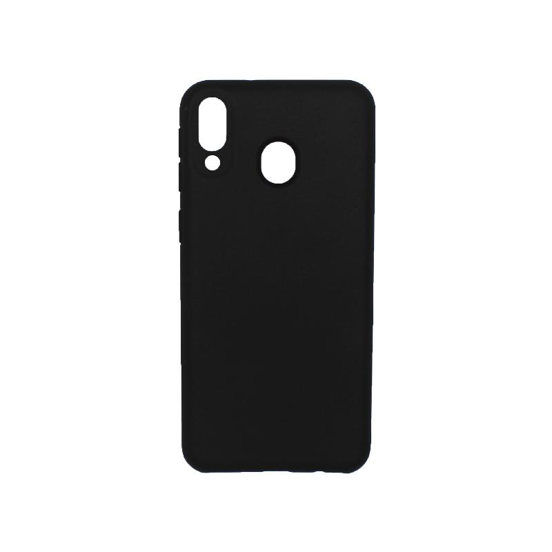 Θήκη Samsung Galaxy M20 Silky and Soft Touch Silicone μαύρο 1