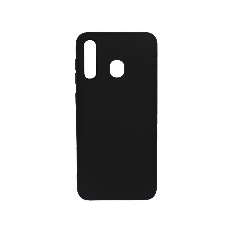 Θήκη Samsung Galaxy A20 / Α30 Silky and Soft Touch Silicone μαύρο 1