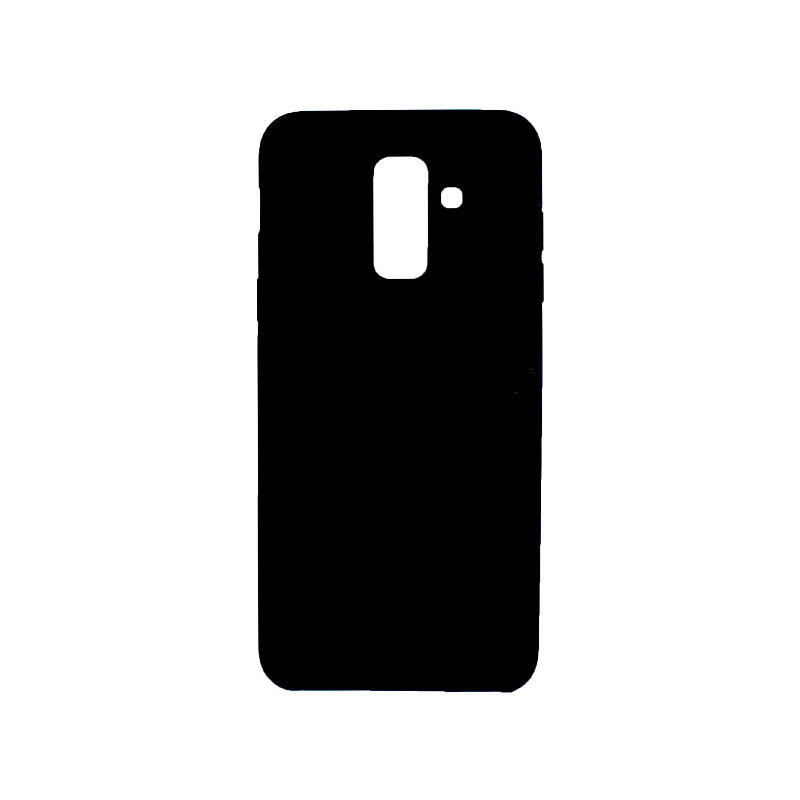 Θήκη Samsung Galaxy Α6 Plus / J8 2018 Silky and Soft Touch Silicone μαύρο 1