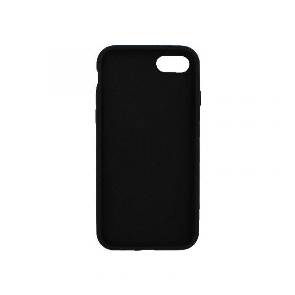 θήκη iPhone 7 / 8 silky and soft touch σιλικόνη μαύρο μπροστά