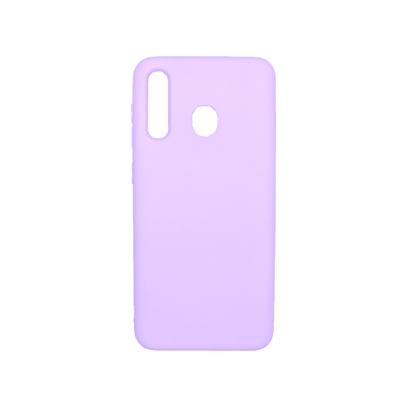Θήκη Samsung Galaxy A20 / Α30 Silky and Soft Touch Silicone μώβ 1