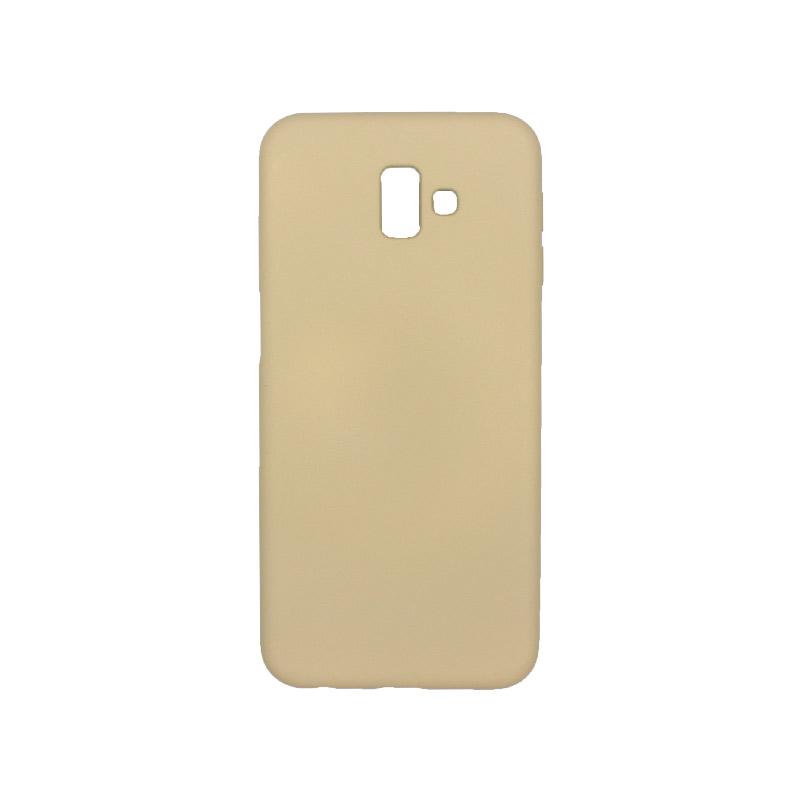 Θήκη Samsung Galaxy J6 Plus Silky and Soft Touch Silicone μπεζ 1
