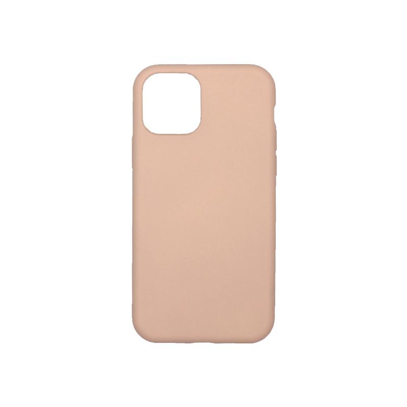 θήκη iPhone 11 pro silky and soft touch σιλικόνη μπεζ πίσω