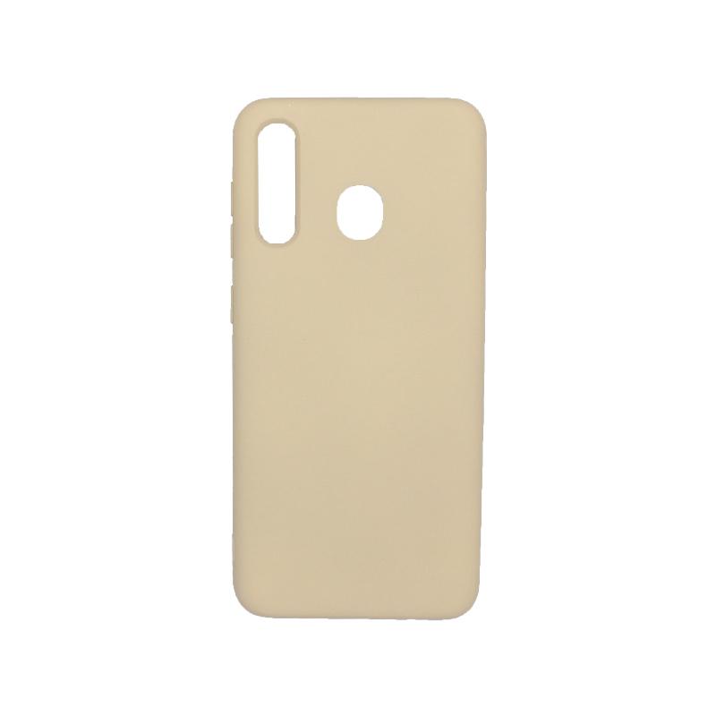 Θήκη Samsung Galaxy A20 / Α30 Silky and Soft Touch Silicone μπεζ 1