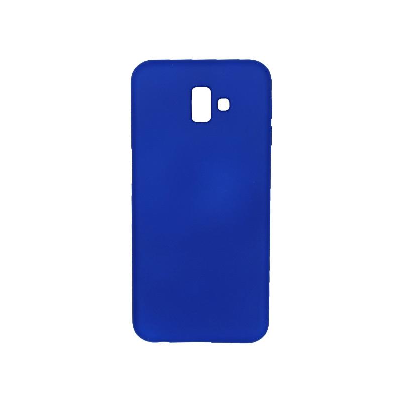 Θήκη Samsung Galaxy J6 Plus Silky and Soft Touch Silicone μπλε 1