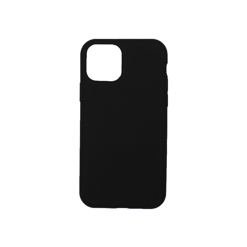 θήκη iPhone 11 pro silky and soft touch σιλικόνη μαύρο πίσω
