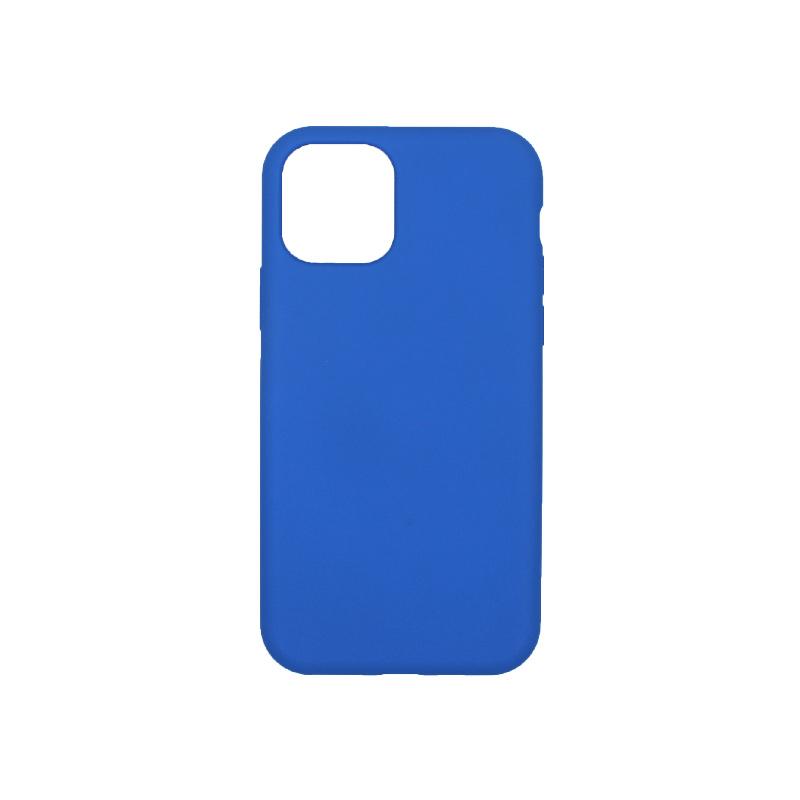 θήκη iPhone 11 pro silky and soft touch σιλικόνη μπλε πίσω