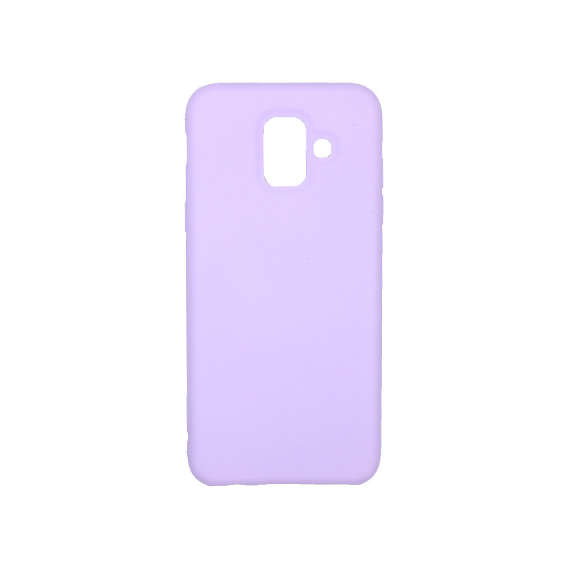 Θήκη Samsung Galaxy A6 Silky and Soft Touch Silicone μωβ 1