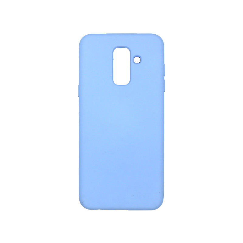 Θήκη Samsung Galaxy Α6 Plus / J8 2018 Silky and Soft Touch Silicone μωβ 1