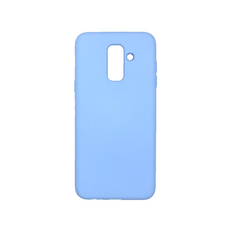 Θήκη Samsung Galaxy Α6 Plus / J8 2018 Silky and Soft Touch Silicone μωβ 1