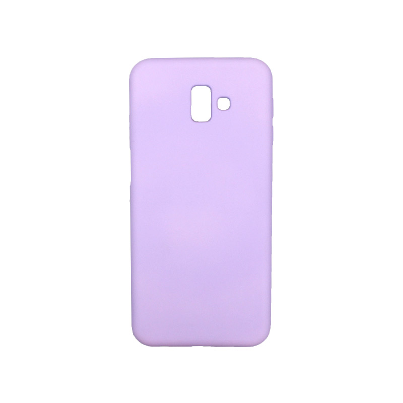 Θήκη Samsung Galaxy J6 Plus Silky and Soft Touch Silicone μωβ 1