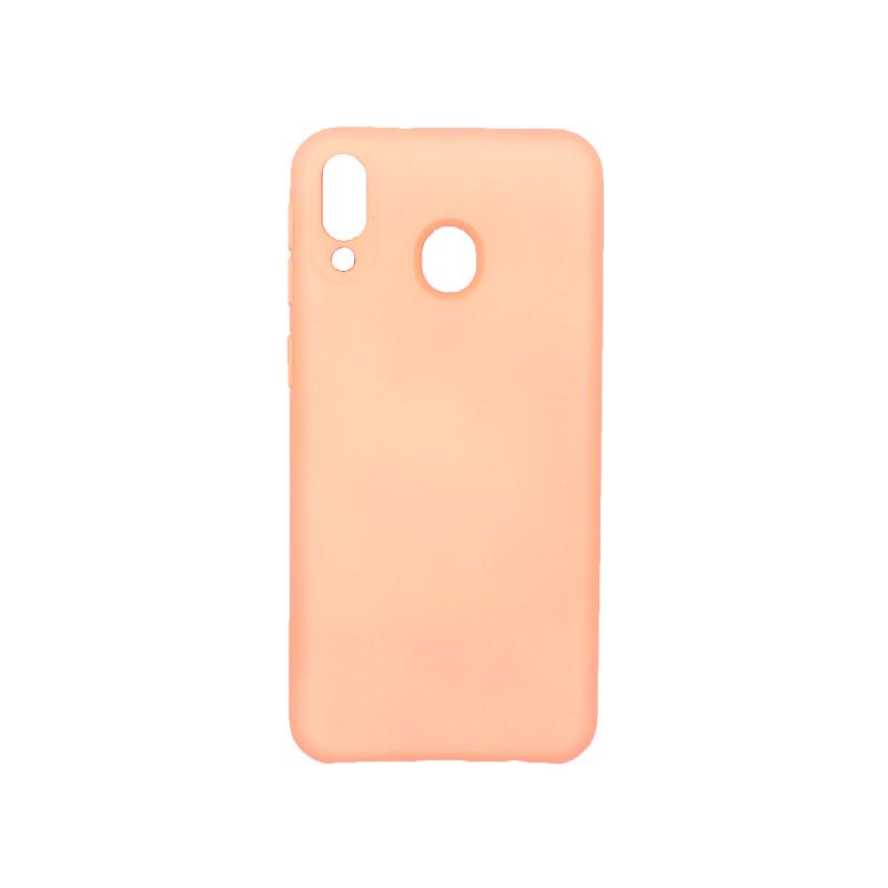 Θήκη Samsung Galaxy M20 Silky and Soft Touch Silicone πορτοκαλί 1