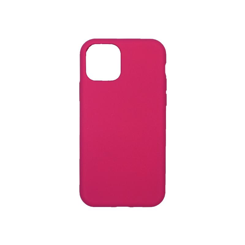 θήκη iPhone 11 pro silky and soft touch σιλικόνη φούξια πίσω